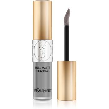 Yves Saint Laurent Full Matte Shadow lichid fard ochi cu efect matifiant culoare 5 Reckless Grey 4,5 ml