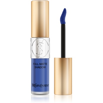 Yves Saint Laurent Full Matte Shadow lichid fard ochi cu efect matifiant culoare 6 Rebel Blue 4,5 ml