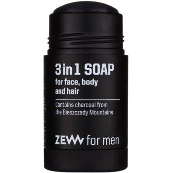 Zew For Men sabão natural em barra para o rosto, corpo e cabelo 3 em 1 1