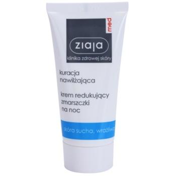 Ziaja Med Hydrating Care crema de noapte pentru contur pentru ten uscat si sensibil  50 ml