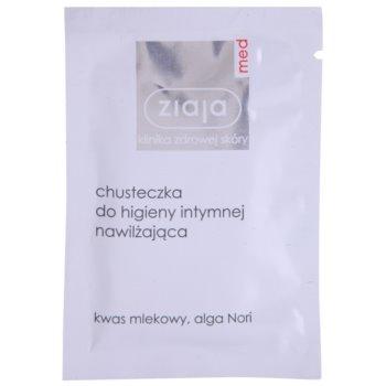Ziaja Med Intimate Hygiene Reinigungstuch zur Intimhygiene mit feuchtigkeitsspendender Wirkung