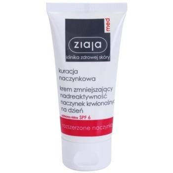Ziaja Med Capillary Care crema hidratanta delicata pentru piele sensibila si predispusa la roseata SPF 6  50 ml