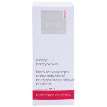 Ziaja Med Capillary Care leichte feuchtigkeitsspendende Creme für empfindliche Haut mit Neigung zu Rötungen SPF 6 2