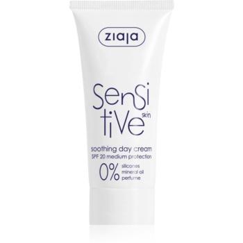 Ziaja Sensitive crema calmanta pentru piele uscata, actionand impotriva senzatiei de mancarime SPF 20  50 ml