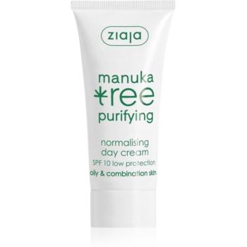 Ziaja Manuka Tree Purifying crema de zi pentru ten mixt si gras SPF 10 50 ml