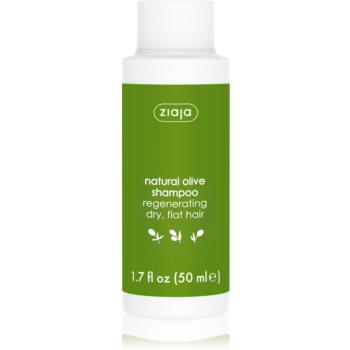 Ziaja Natural Olive sampon pentru regenerare pentru par uscat  50 ml