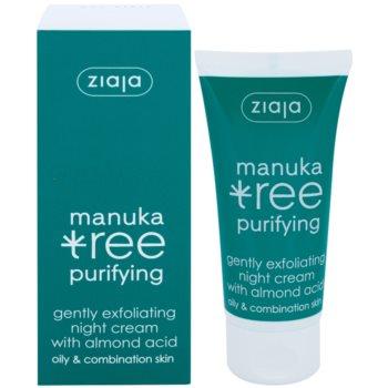 Ziaja Manuka Tree Purifying exfoliační noční krém proti akné 1