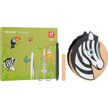 Zwilling Kids Jungle Set de manichiură pentru copii Zebra 4 buc