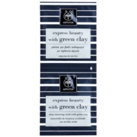 Apivita Express Beauty Green Clay mascarilla facial de limpieza profunda