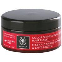 feuchtigkeitsspendende und aufhellende Maske für gefärbtes Haar