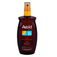 aceite solar en spray SPF 15