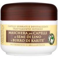 маска з лляною олійкою для сухого або пошкодженого волосся