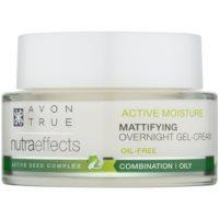 gel-crème de nuit matifiant non-huileux