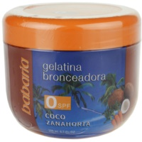 Babaria Sun Bronceador gelatina para estimular o bronzeado com coco e cenoura