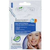 peeling, sérum a maska s hydratačním účinkem