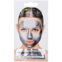 Bielenda Metallic Masks Silver Detox детоксикираща почистваща маска за смесена и мазна кожа