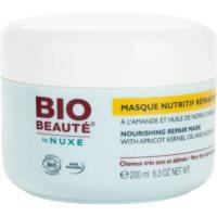vyživující maska na vlasy s olejem z meruňkových jader a mandlemi