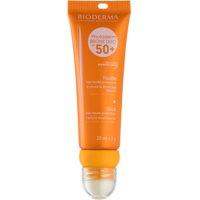 schützendes Fluid für das Gesicht und schützendes Lippenbalsam SPF 50+