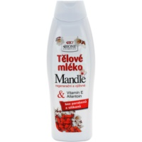 leite corporal nutritivo com óleo de amêndoas