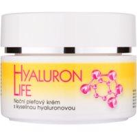 crema facial de noche con ácido hialurónico