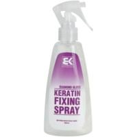 spray fijador con queratina con purpurina