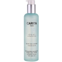 Energizing Cleansing Gel On The Face And Eyes