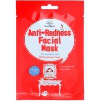 plátenná maska pre citlivú pleť so sklonom k začervenaniu