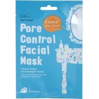 plátenná maska pre stiahnutie pórov a matný vzhľad pleti