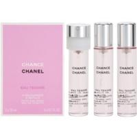 Chanel Chance Eau Tendre Eau de Toilette (3 x füllung) für Damen 3x20 ml
