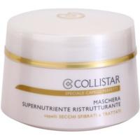 máscara restauradora nutritiva para o cabelo seco e frágil