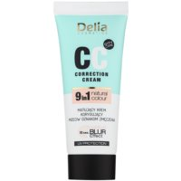Delia Cosmetics Optical Blur Effect Correction Cream CC creme matificante contra sintomas de fadiga