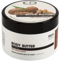 samoopaľovacie telové maslo s extraktom z orechov