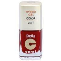 Delia Cosmetics Coral Nail Enamel Hybrid Gel verniz de gel para unhas