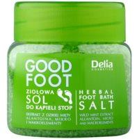 bylinná kúpeľová soľ na nohy