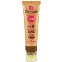 crema solar facial resistente al agua con bálsamo labial SPF 30