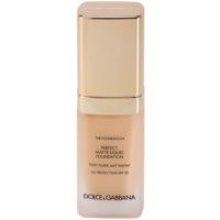 Dolce & Gabbana The Foundation Perfect Matte Liquid Foundation tekoči puder za mat videz