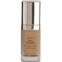 Dolce & Gabbana The Foundation Perfect Matte Liquid Foundation make up pentru un aspect mat
