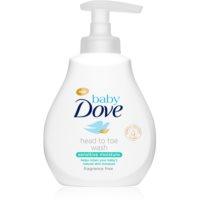 Dove Baby Sensitive Moisture почистващ гел за тяло и коса