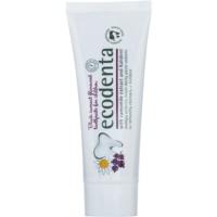 Ecodenta Kids pasta de dientes para niños con aroma de grosella negra y extracto de manzanilla