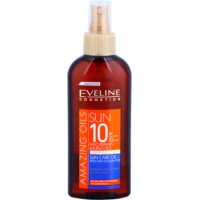 aceite solar en spray SPF 10