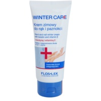 Protective Winter Cream On Hands And Nails