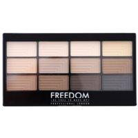 Freedom Pro 12 Audacious Mattes paleta de sombras  com aplicador