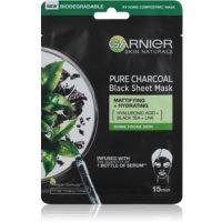 Garnier Skin Naturals Pure Charcoal  fekete textil maszk fekete tea kivonattal
