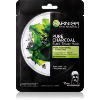 Garnier Skin Naturals Pure Charcoal  schwarze Textilmaske mit Algenextrakt