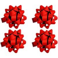 ajándék nagy csillag matrica matt 4 db Red