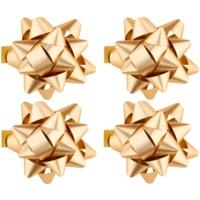 ajándék kis csillag matrica csillogó 4 db Gold