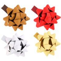 gwiazdy samoprzylepne na prezent małe w czterech kolorach
