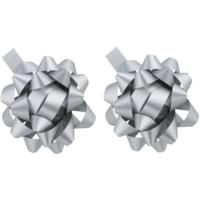 ajándék dekorációs csillag ezüst 2 db