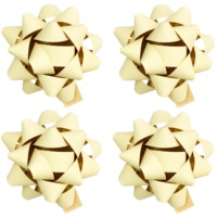 gwiazdy samoprzylepne na prezent małe - matowe w czterech kolorach Cream