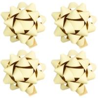 ajándék kis csillag matrica matt 4 db Cream